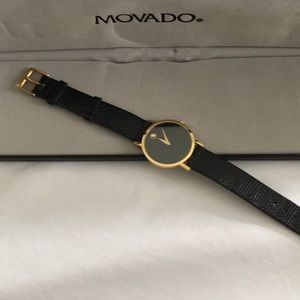 Gorgeous Movado men's navy blue watch nwot